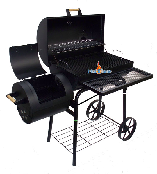 oklahoma offset smoker country barbecue bbq hout